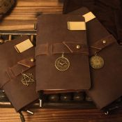 leather notebook images