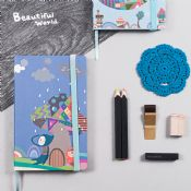 notebook with elastic strap closure images