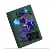 led light paper notebook images