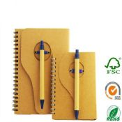 spiral kraft note book with pen images