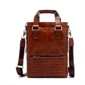 Classic Cow leather mens handbag images