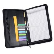 Leather Zip Portfolio with Writing Pad images
