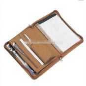 Multifunctional Leather Portfolio with Writing Pad images